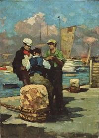 pescatori in riposo by renato natali