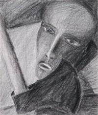 portrait eines mannes mit beil by josef felix müller