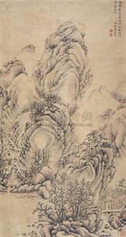 秋林待客图 by liang chongzhong