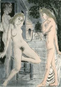 7 dialogues avec paul delvaux (text by meuris w/5 works) by paul delvaux