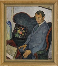 porträtt av den danske författaren otto gelstedt by kurt jungstedt