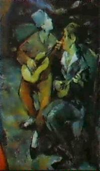 musizierende clowns by viktor ivanov
