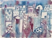 stadt in blau 1973 by eduard bargheer