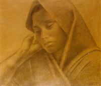 portrait of a mexican woman by enrique alferez
