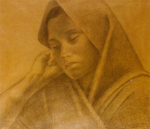 portrait of a mexican woman by enrique alferez