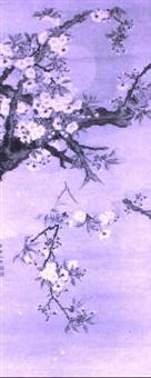 kirschblütenzweige, wolkenschwade und vollmond by sekko