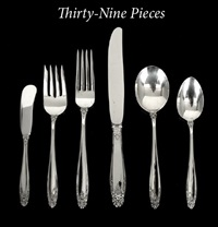 flatware (prelude pattern; set of 39) by meriden brittania (co.)