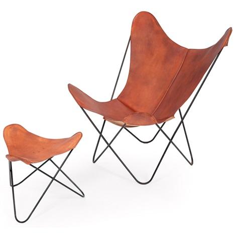 Butterfly Chair Butterfly Ottoman 2 Works By Juan Kurchan Jorge Ferrai Hardoy And Antonio Bonet On Artnet