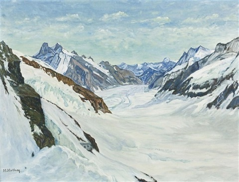 aletschgletscher by maurice mathey
