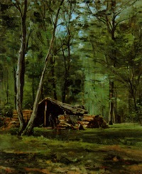 forêt de st-germain by paul louis frédéric liot