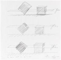 ohne titel (design sketch) by alf lechner