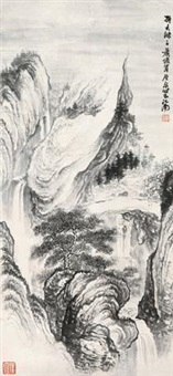 拟大涤子山水 by xiao junxian