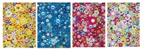 an homage to monogolda; an homage to ikb 1957a; an homage to monopink 1960a; & an homage to yves klein multicolor a (4 works) (set of 4) by takashi murakami