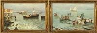fishing scenes (2 works) by emmanuele costa