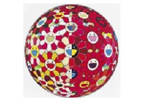 flowerball red 3d the magic flute by takashi murakami