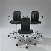 supporto swivel chairs (set of 3) by fred scott