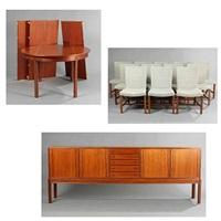 dining room suite (set of 14) by knud andersen