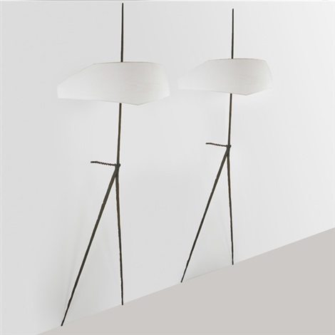 fine and large wall sconces pair by felix agostini