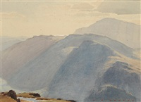 lakeland landscape with mountains by william heaton cooper