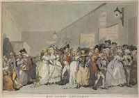 box lobby loungers (after henry wigstead) by thomas rowlandson