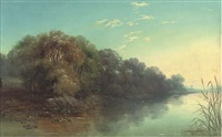 the thames, near laleham by john mundell