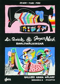 emaljemålinger by lis zwick and jøgen nash