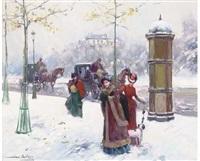 paris in winter by juan puig soler