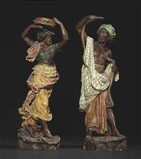 tanzendes, orientalisches paar by jean rordorf