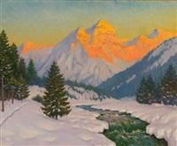 sunset by mikhail markianovich germanshev