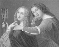 zwei schwestern in inniger pose by wilhelm leitzmann