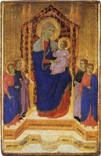 madonna in trono con bambino e quattro angeli by lippo di benivieni