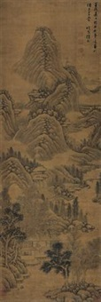 秋山闲居 (landscape after ju ran) by xu fang