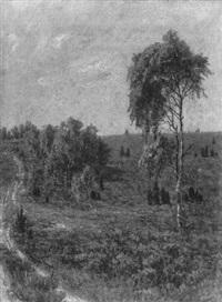 heidelandschaft by margarete von baczko