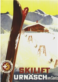 skilift urnäsch am säntis (by atelier blank) by posters: tourism
