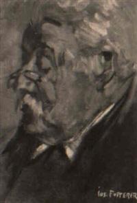 porträt eines lesenden by joseph futterer