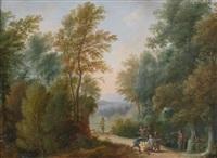 ein räuberlager; der überfall im wald (pair) by jan-peter van bredael the younger