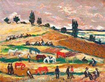 campesinos en las tierras by benjamín palencia