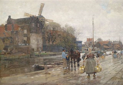 am delfter canal by hans herrmann