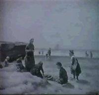 fischerkinder am strand by a. karssen