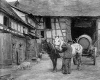 vorbereitung des faßtransportes im gehöft by josef kaspar correggio
