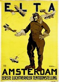 elta amstterdam (poster) by h.g. brian de kruyff van dorssen