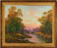 river landscape by joseph p. frey