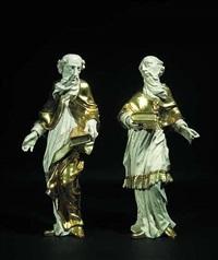 zwei stehende heilige (pair) by joseph gotsch