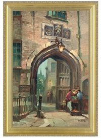 an entrance to lincoln's inn from chancery lane by george ayling