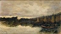barcas en el río by manuel ramos artal