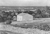 paisaje con casa cerca de la costa by rafael giralt bataller