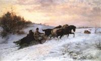 le retour de la chasse by jakob marianus jaroszynski