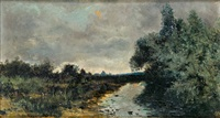 paisaje con río by manuel ramos artal