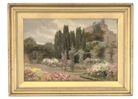 the flower garden, clonlost house, co. west meath, ireland by mary georgina barton