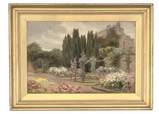the flower garden clonlost house co west meath ireland by mary georgina barton